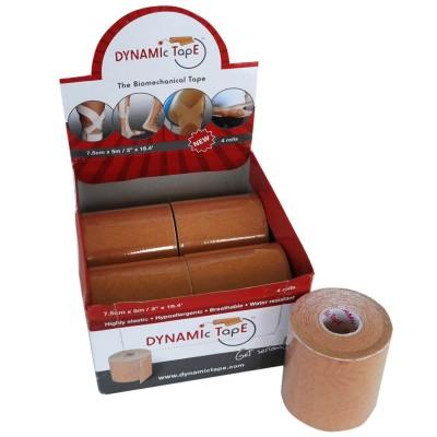 Dynamic Tape  Rolo 7,5cm x 5m Beige Tattoo (caixa 4 rolos)