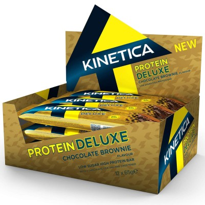 Kinetica Protein Deluxe Bar Chocolate Brownie 12 X 65g